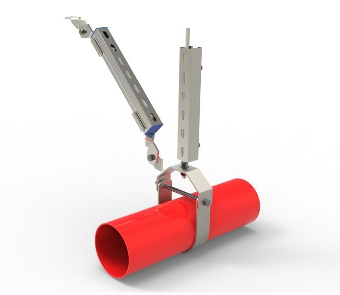 消防给水管侧向抗震支吊架产品图片