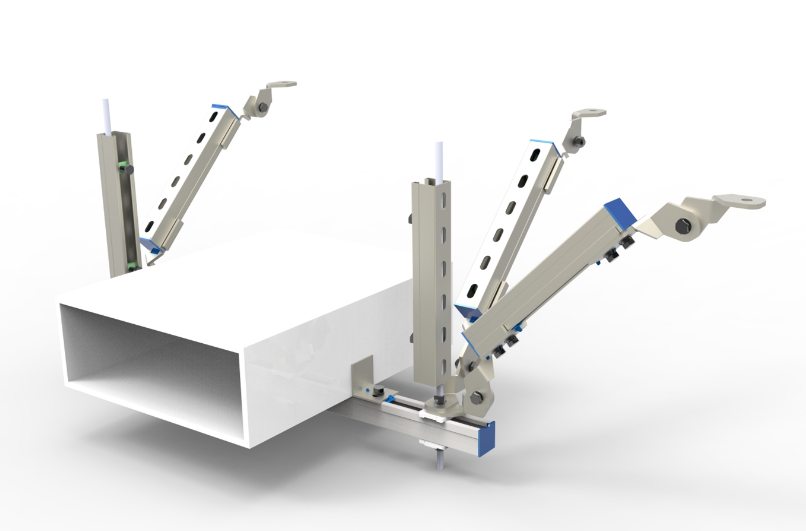 电气桥架纵向抗震支吊架产品图片