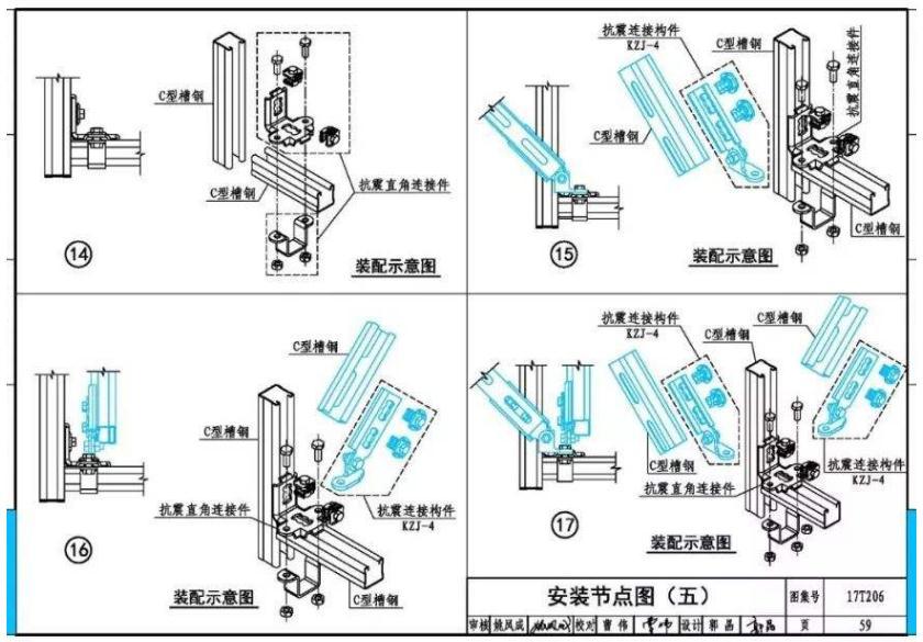 通风系统抗震支吊架丈量、锚栓定位图解