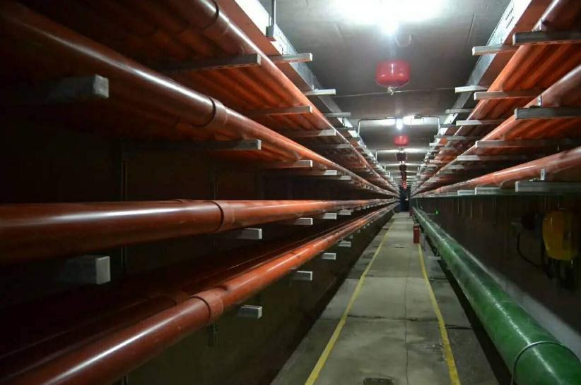 综合管廊抗震支吊架实拍图片