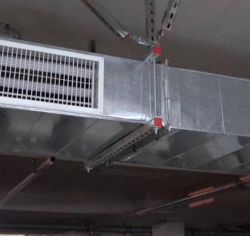 空调、通风管路系统抗震支架运用实拍图片