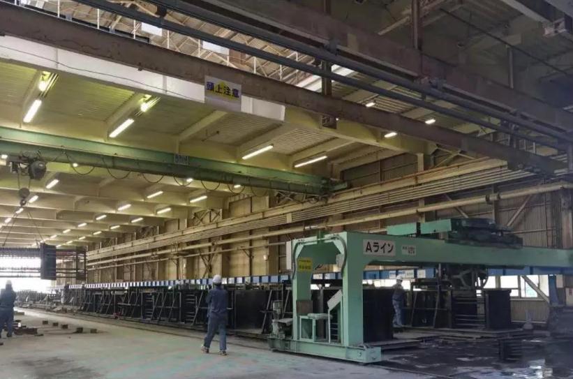 日本刚性结构装配式建筑生产车间摄图