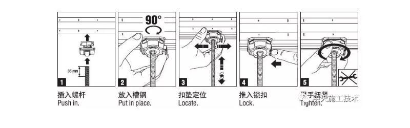 管束扣垫安装示图