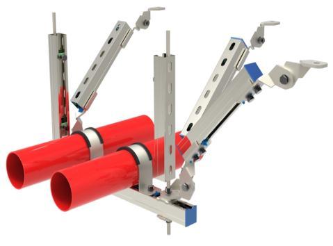 电气建设中设置的抗震支架