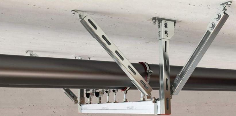抗震支架的间距设置示范图片
