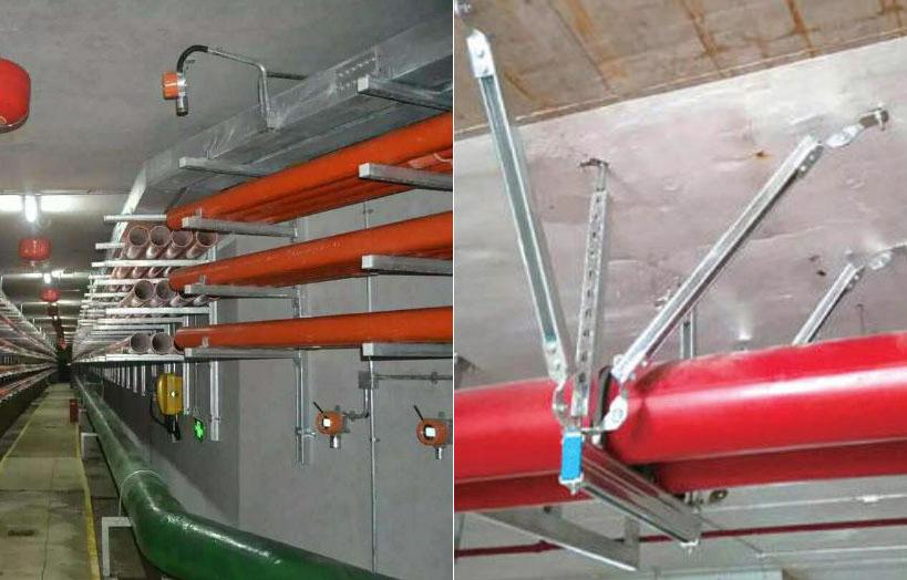 管廊支架和管道支架区别示意图