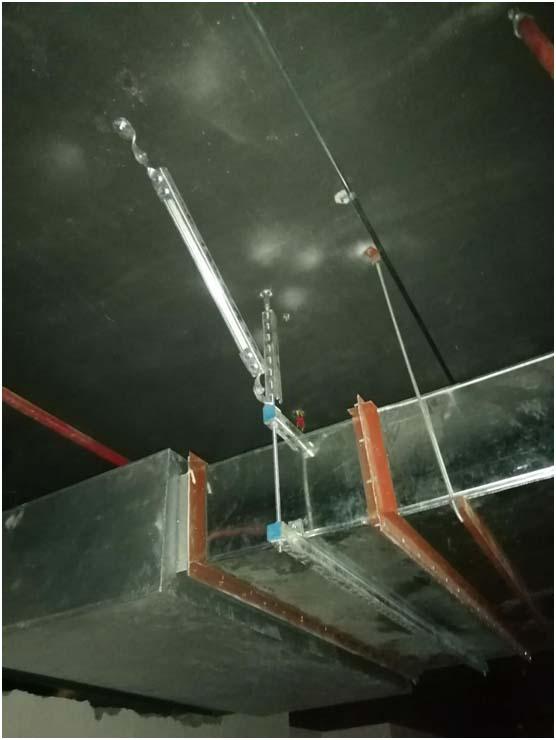 德宏州桥架抗震支架施工案例图片
