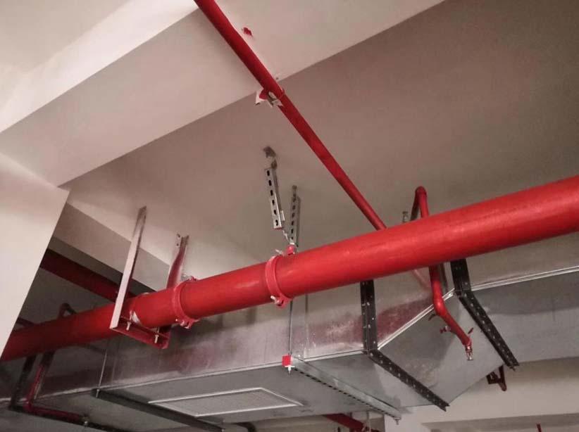 昆明市管道抗震支架安装案例图片